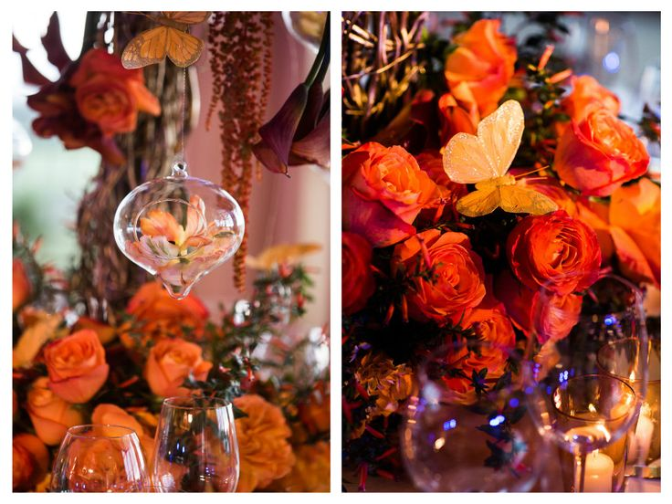 Sunset Theme Wedding Lighting And Table Top Decor At Pelican Hill