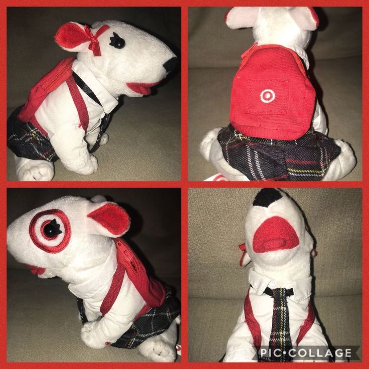 TARGET Bullseye SCHOOL UNIFORM GIRL DOG 2015 PLUSH not sold in stores! #targetstores #target #bullseyeplush #bullseye #target mascot