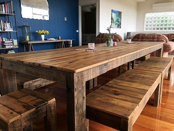 Super Large 3 Metre Dining Table Setting And Optional Bench Seats Onthecornerstone Fun Painted Chair Ideas Images Onthecornerstoneorg