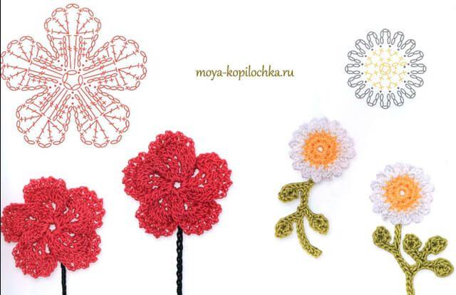 25 Flores para tejer a crochet ~ Patrones Gratis   Todo crochet