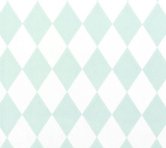 Ferm Living behang Harlequin - Mint groen