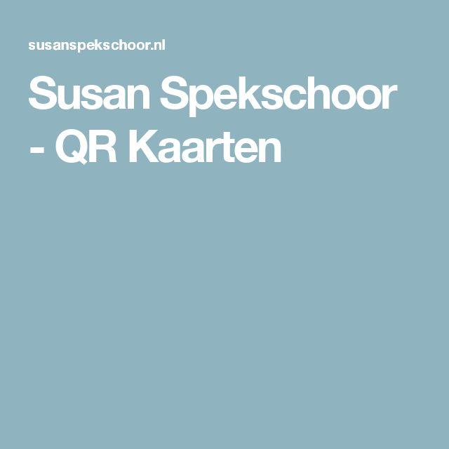 Susan Spekschoor - QR Kaarten
