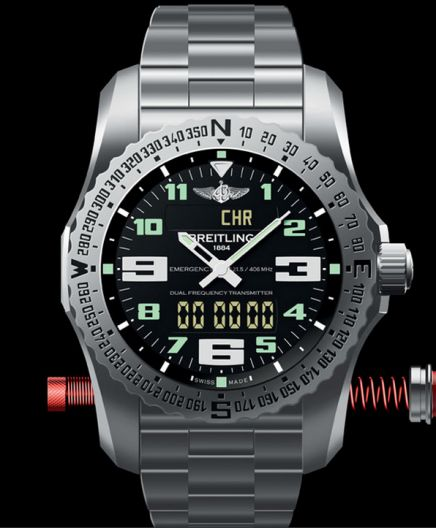 The Breitling Emergency 2 has two antenna built in that activate the beacon when pulled ou...