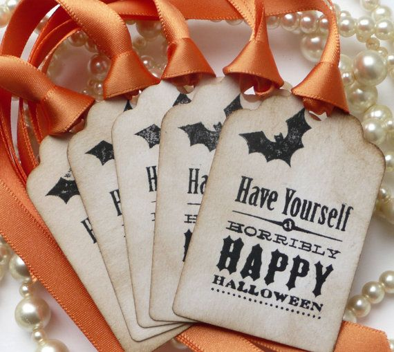 Halloween Tags  Treat Bag Vintage Labels  Halloween por amaretto, $5.00
