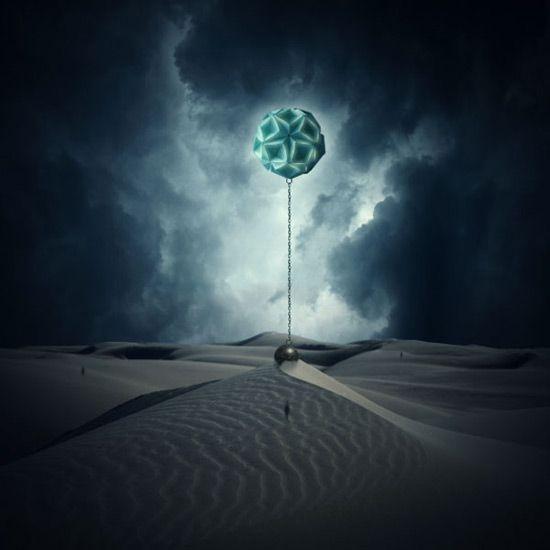 Photo Manipulate a Surreal, Gravity-Defying Desert Scene