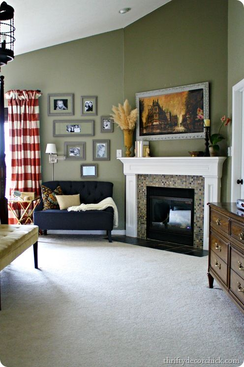 I love this shade of green for the living room! Website with