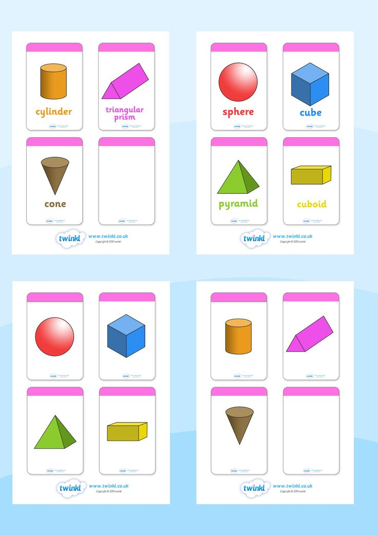 Twinkl Resources 3D Shape Flashcards Printable resources for – Sen Maths Worksheets