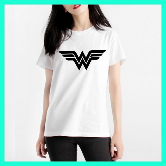 High Quality Mercerized Cotton Woman T-shirt Anime Wonder Woman T Shirt Superhero Tee Womens Letter Print Harajuku Manga Tshirt