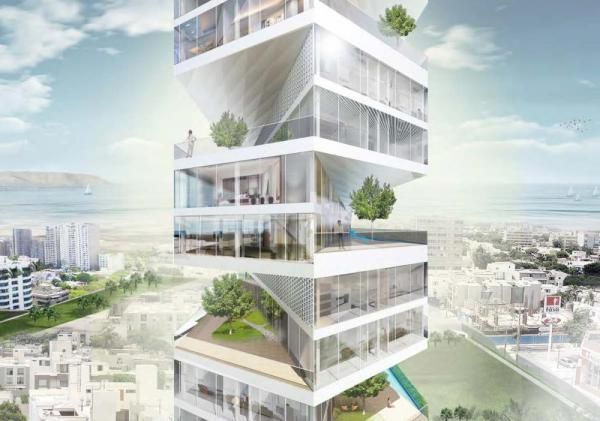 Writhing Tower in Lima, Peru by LYCS Architecture (designed