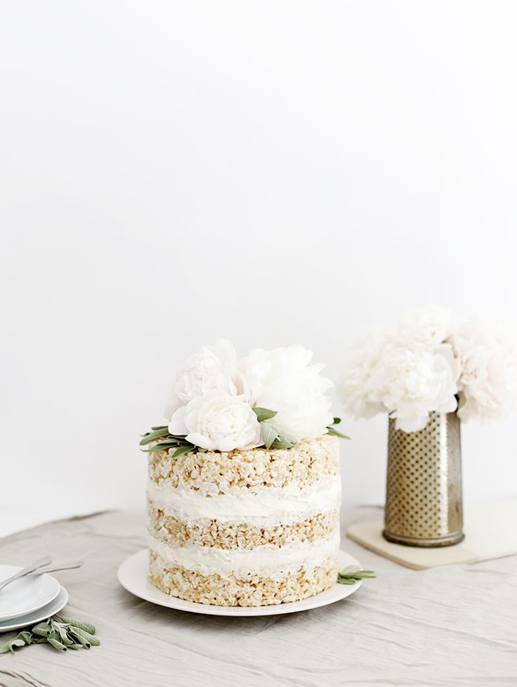 Floral Rice Krispie Cake @themerrythought
