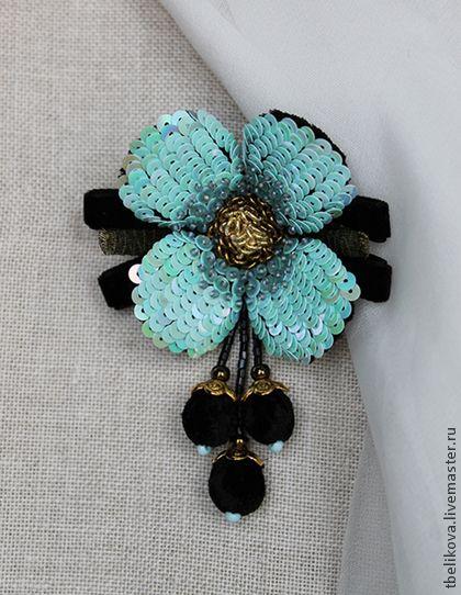 Брошь - цветок BR 2014-5 - брошь,брошь-цветок,брошь ручной работы,авторская брошь