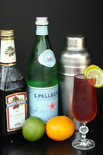 Blackberry tinto de verano... a twist on my favorite Spanish drink!