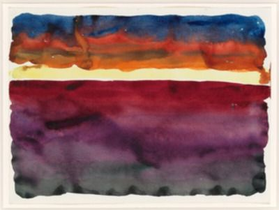 """"""" Georgia O'Keeffe Morning Sky, 1916 watercolor on paper """""""