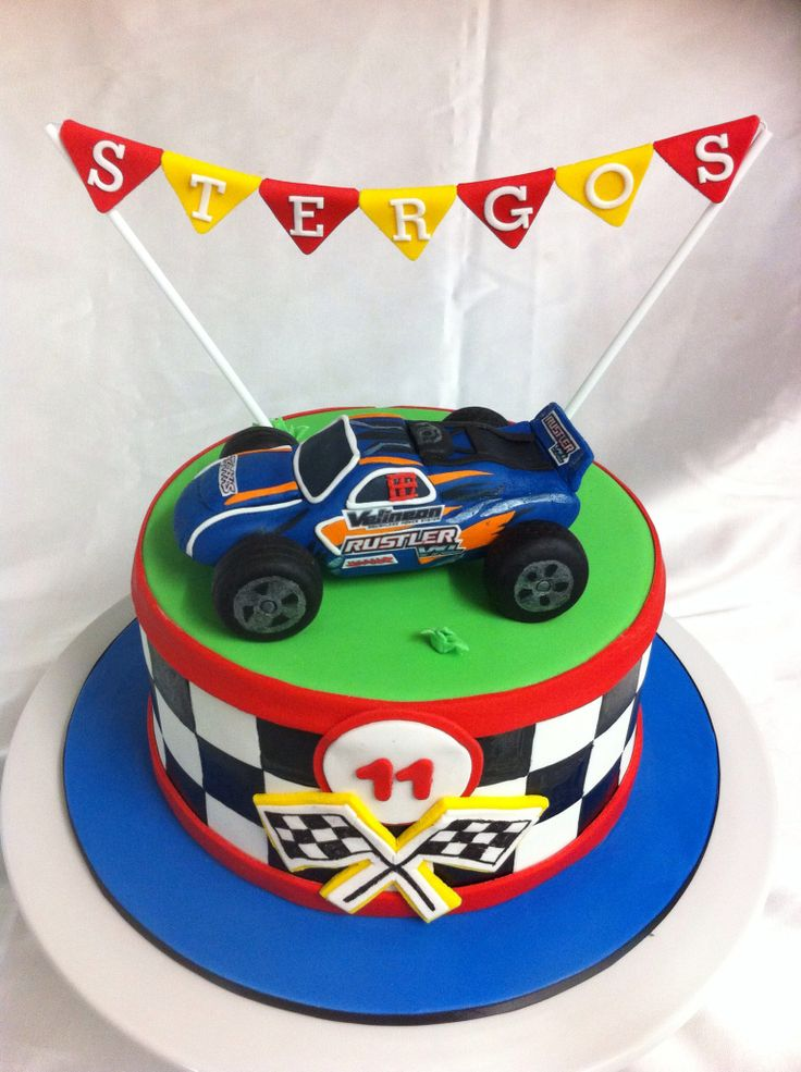 RC Car Birthday Cake Idea