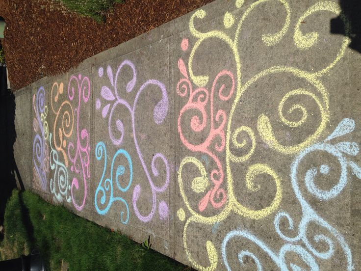 Sidewalk chalk swirly mood