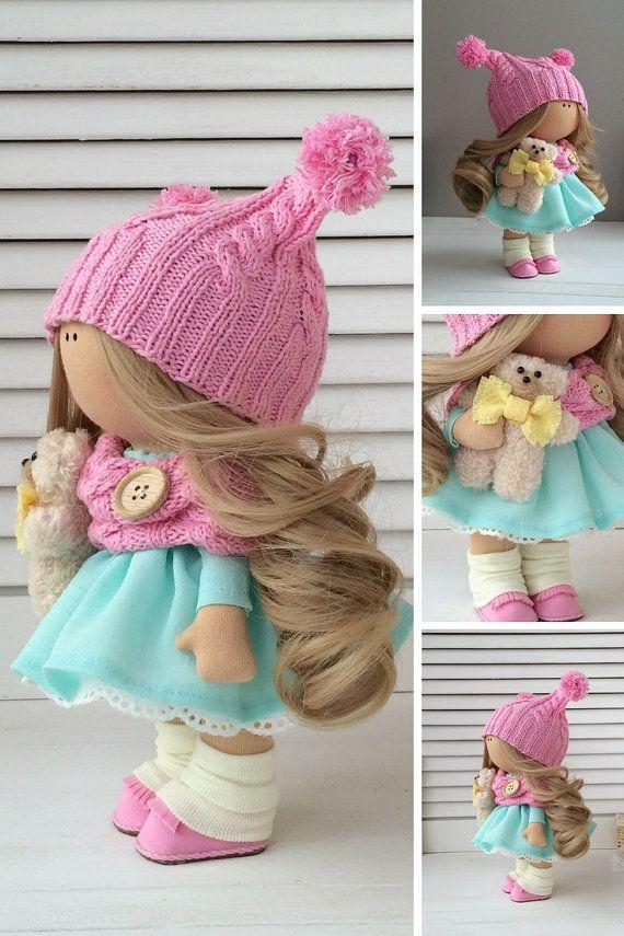 Handmade doll Fabric doll Textile doll Muñecas Tilda doll