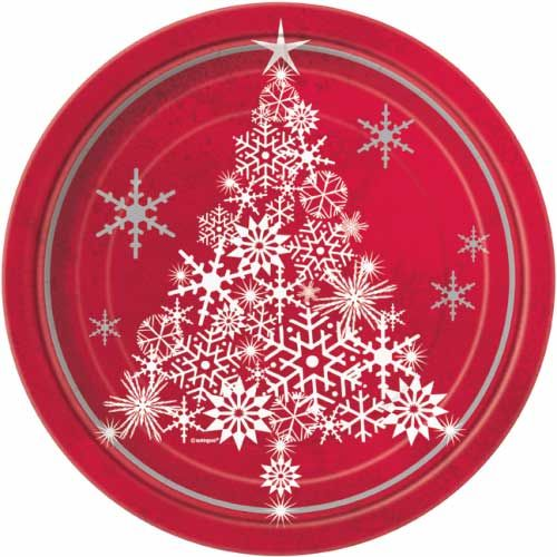 Red Sparkle Christmas Paper Party Plates Pack of 8  sc 1 st  Pinterest & 21 best Christmas Party Plates images on Pinterest | Party plates ...