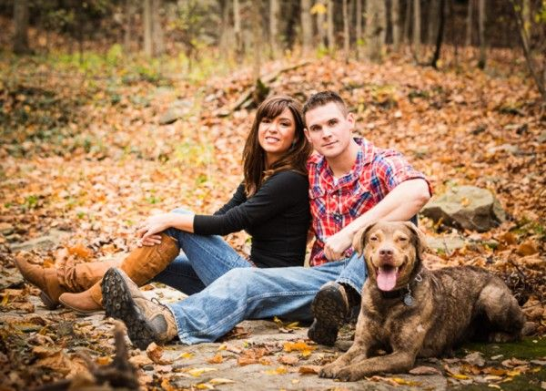 Engagement photos with dog!