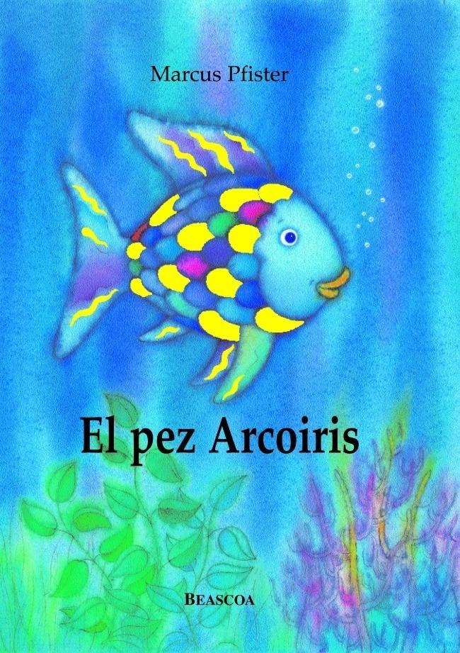 """En alta mar, en un lugar muy muy lejano, vivía un pez. Pero no se trataba de un pez cualquiera. Era el pez más hermosos de todo el océano. Su brillante traje de escamas tenía todos los colores del arco iris.  Los demás peces admiraban sus preciosas escamas y le llamaban """"el pez Arcoiris"""".   ¡Ven, pez Arcoiris! ¡Ven a jugar con nosotros! –le decían. Pero el pez Arcoiris ni siquiera les contestaba, y pasaba de largo con sus escamas relucientes."""