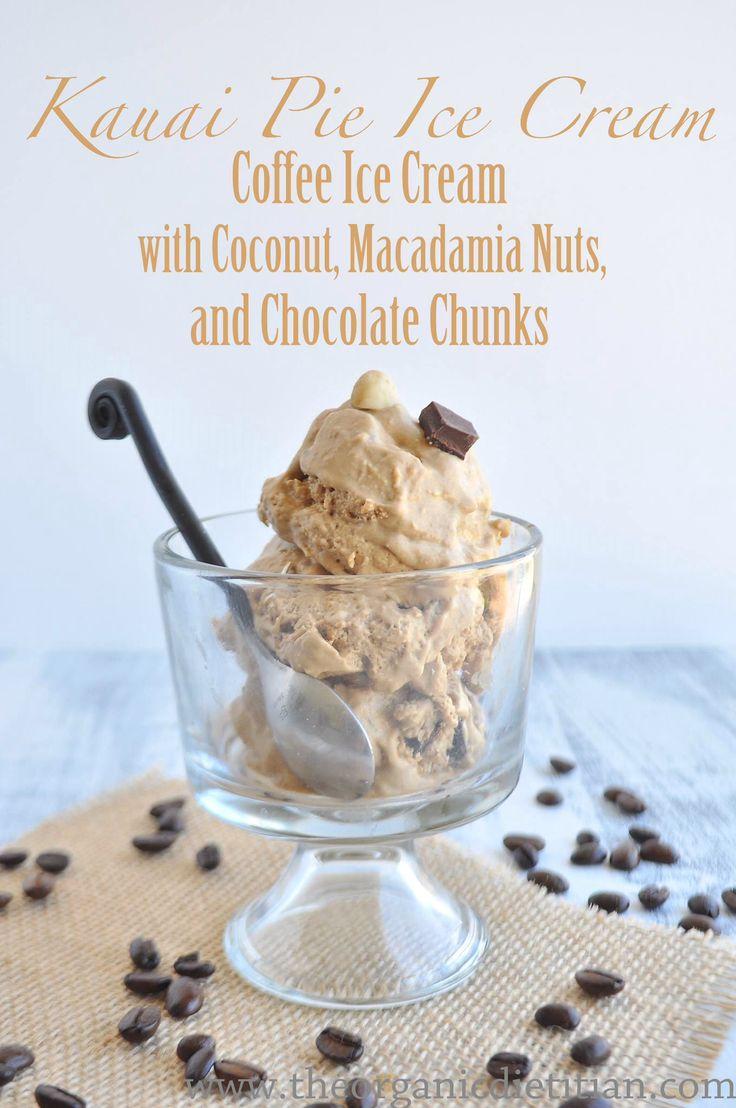 Kauai Pie Ice Cream - Vegan Coffee Ice Cream with Coconut Macadamia Nuts & Chocolate Chunks