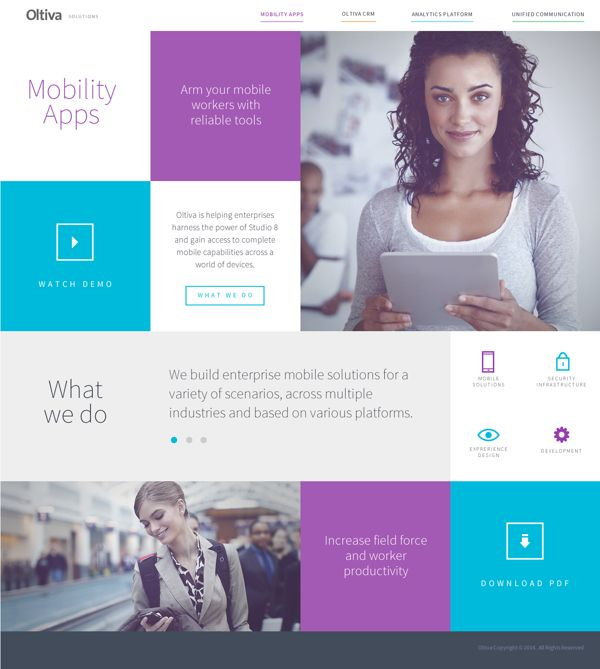Oltiva Solutions Web by Nohemi Olvera, via Behance