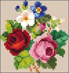 Victorian Cross Stitch Pattern