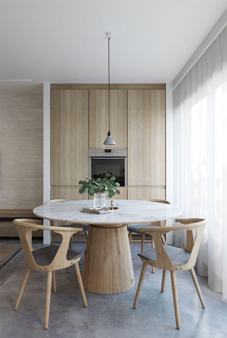 e-design-küche und essbereich, 3d-küchenvisualisierung, e