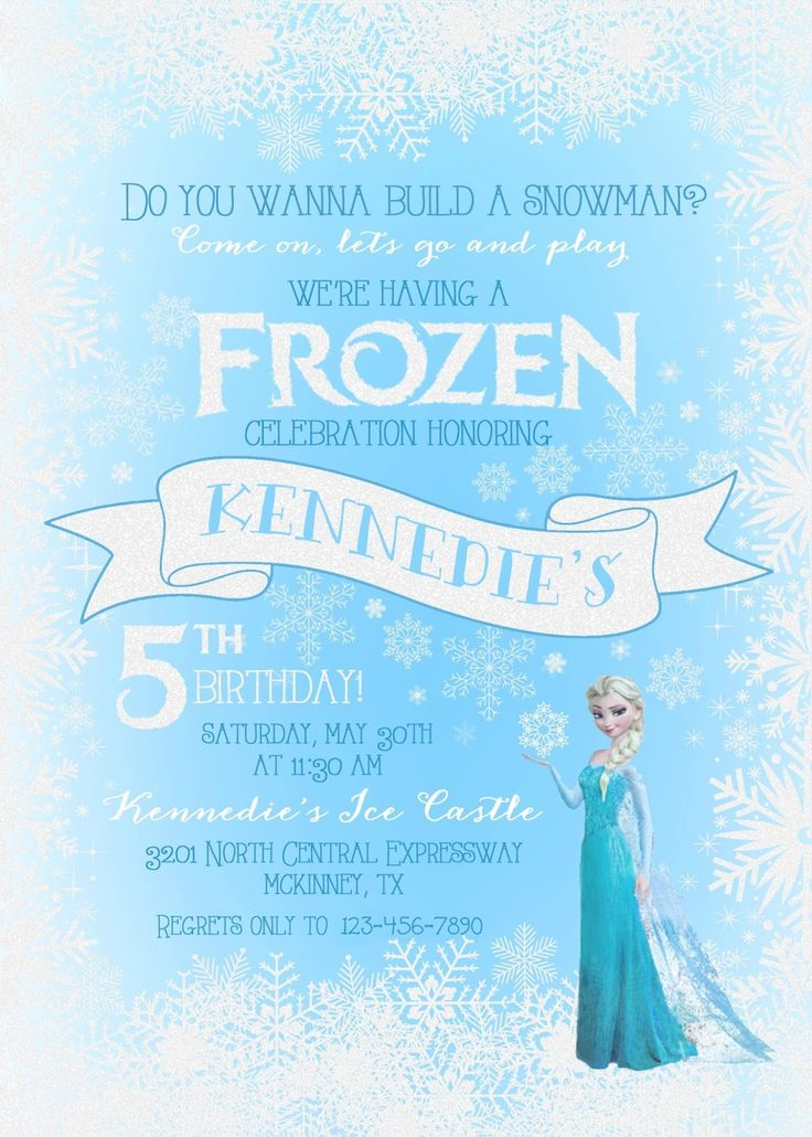 5th Frozen Birthday invite