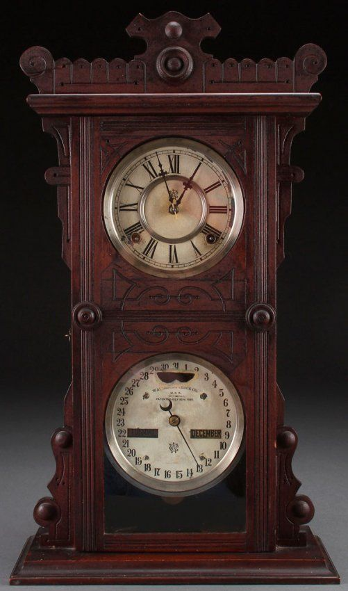 A Waterbury Calendar Clock Lot 742 Timely Places