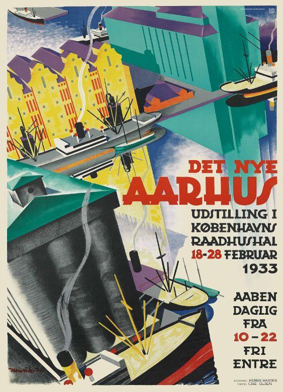 Det nye Aarhus (1933) af Henrik Hansen.