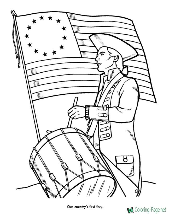 Patriotic Coloring Pages Flag Coloring Pages American Flag