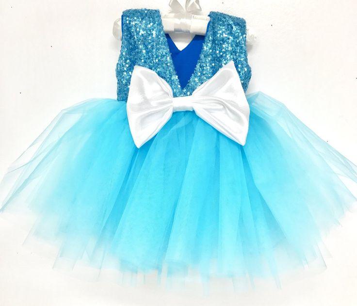 Royal Princess Sparkle Winter Wonderland Frozen Tutu Dress