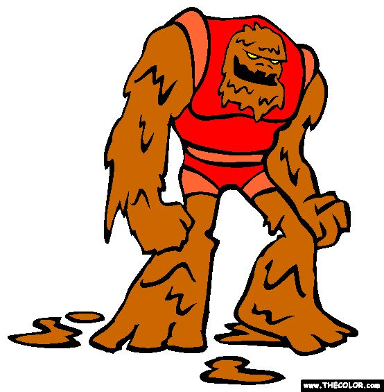 mud man coloring page