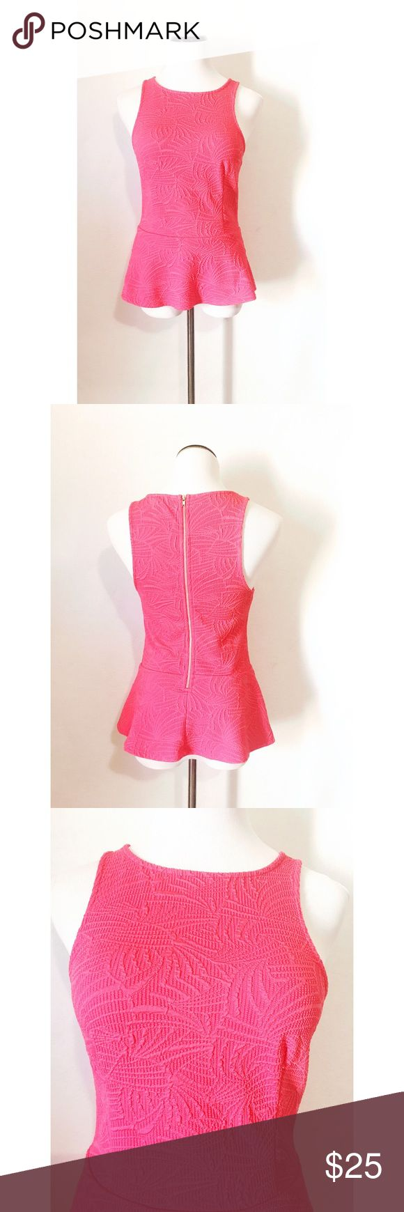 Express pink peplum top Super cute with zipper in the back! Size small! Excellent condition! Express Tops Blouses