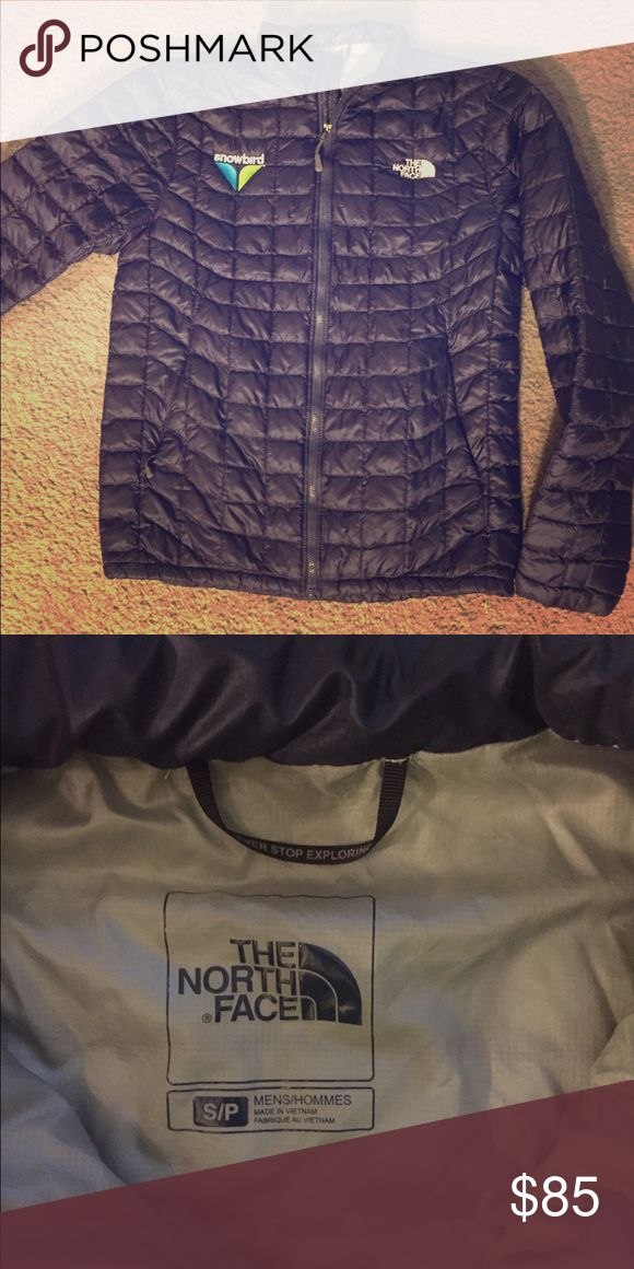 North face thermoball jacket men's small North face thermoball jacket with snowbird logo. Very gently used, looks brand new. Navy blue North Face Jackets & Coats Ski & Snowboard