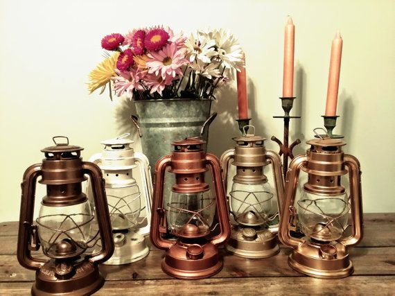 Small 8 Rustic Railroad Lanterns// VintageStyle by RecycledRevival, $12.50