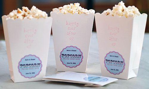 Circus/Carnival theme :  wedding White Popcorn Boxes