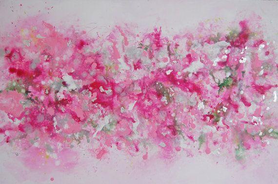 Pink Abstract Painting Original Modern Canvas Art