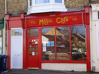 Magic Cafe in Oxford. Veggie/vegan cafe in Cowley on the outskirts of Oxford