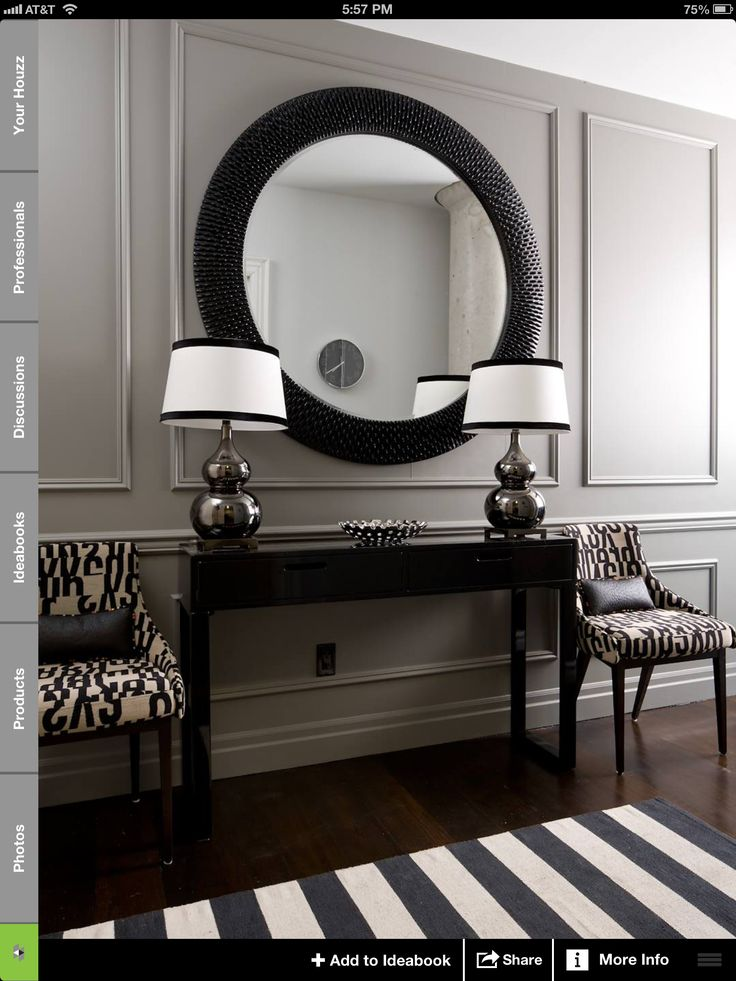 I don't normally like black & white but this entryway is gorgeous