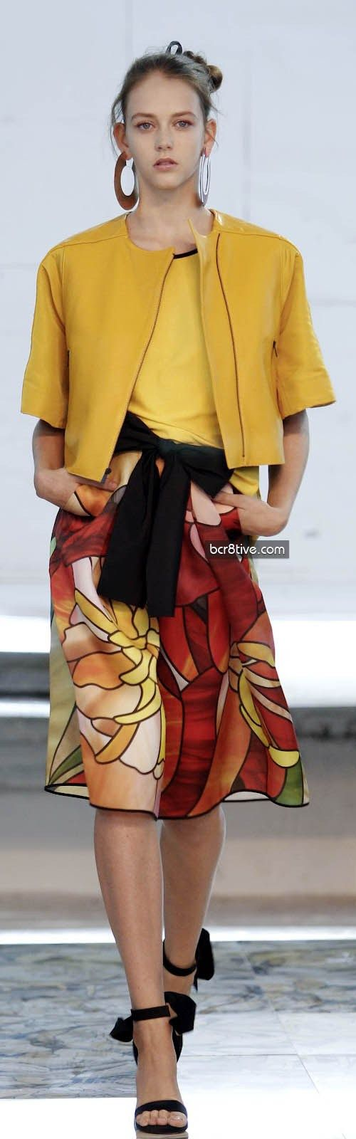 women fashion outfit clothing style apparel @roressclothes closet ideas Juan Vidal Spring 2013