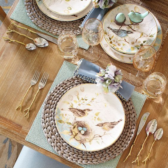 Field Notes Bird Dinnerware from Pier 1 and Retail Therapy for Spring, Bunny and Garden Fever   homeiswheretheboatis.net
