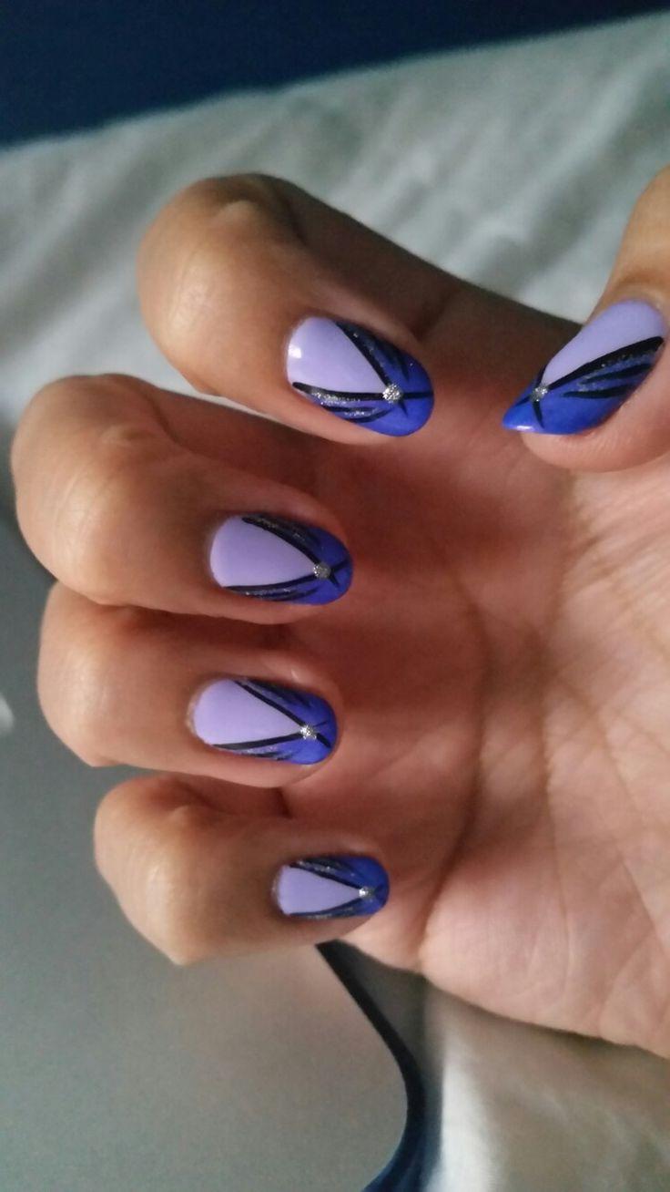 💖 my purple nails 😀