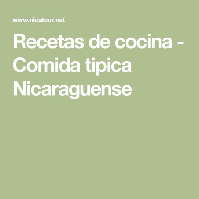 Recetas de cocina - Comida tipica Nicaraguense