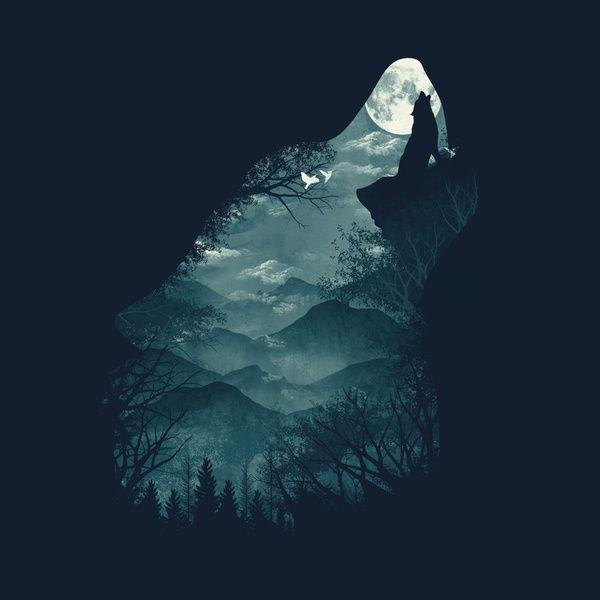 Hungry Wolf Duvet Cover by Dan Elijah G. Fajardo | Society6