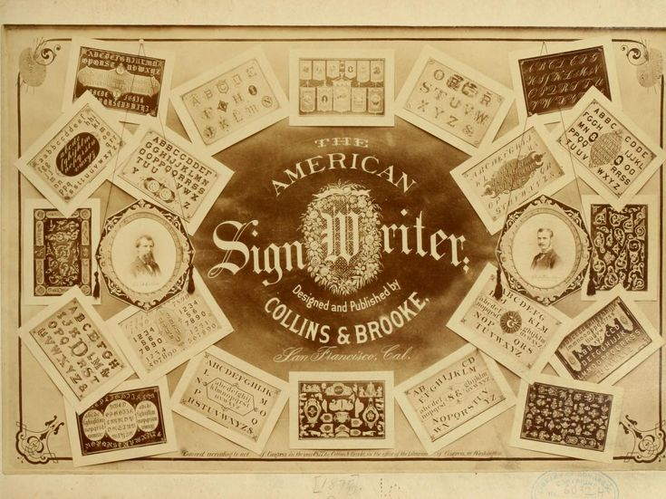 Best 25 sign writer ideas on pinterest sign painting sign the american sign writer by collins george b brooke george c from old catalog joint author published 1877 topics sign painting lettering fandeluxe PDF
