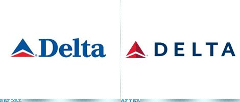 Delta Logo, Before and After