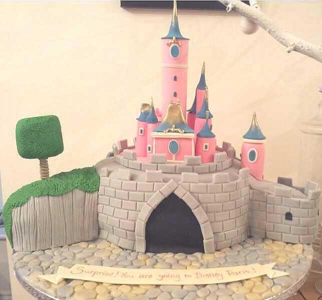 my Disney Paris castle cake