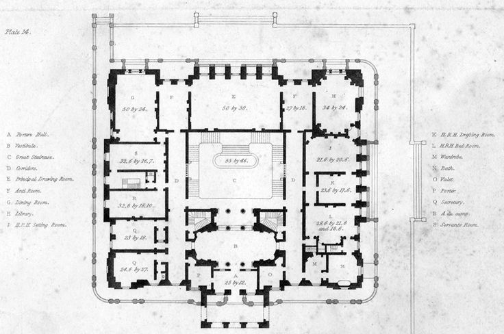 Lancaster house ground floorplan castles and palaces for Gt issa floor plans