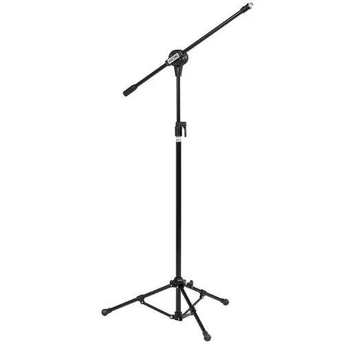 pedestal para 01 microfone com cachimbo - frete grátis
